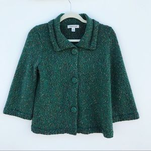 Coldwater Creek Green Knit Cardigan size XS